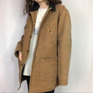 Carhartt Brown Chore Jacket Size Medium